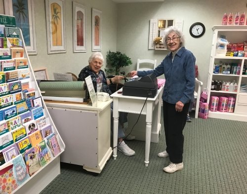 seniors operating their own shop